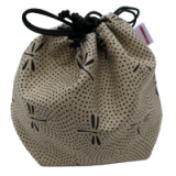 Pouch for shogi pieces - Gray Dragonfly