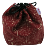 Pouch for shogi pieces - Red Dragonfly